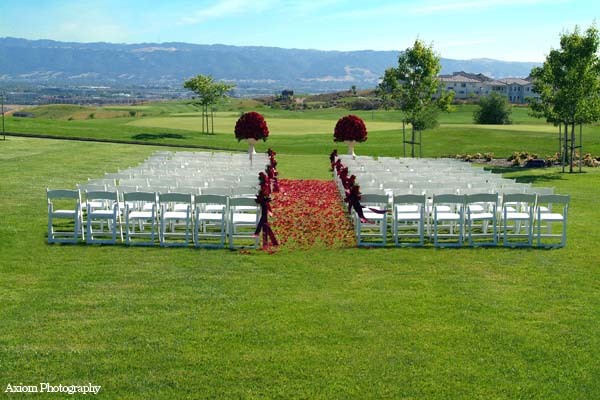 Ceremony, Flowers & Decor, red, Dublin ranch golf course