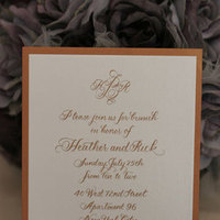 Stationery, orange, Invitations, Blooming quill