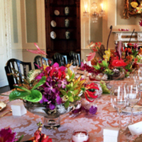 Reception, Flowers & Decor, Centerpieces, Flowers, Centerpiece, Water lily pond, Colorful