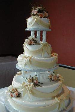 Cakes, white, cake, Creative international pastries