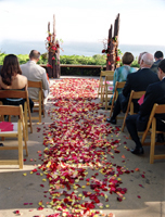 Ceremony, Flowers & Decor, red, brown, Ceremony Flowers, Flowers, Water lily pond