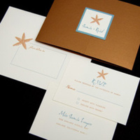 Stationery, blue, gold, Beach Wedding Invitations, Invitations, Oliostyle