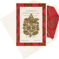 Stationery, red, gold, Invitations, Inprint, Bilingual