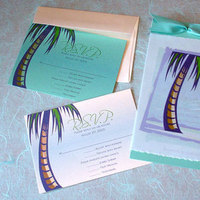 Stationery, blue, Invitations, Tropical, Tree, Mine by design