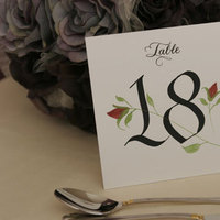 Table Numbers, Blooming quill