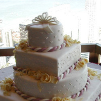 Cakes, white, cake, Square Wedding Cakes, Square, Creative international pastries, Rope