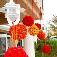 yellow, orange, red, Summer Wedding Flowers & Decor