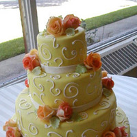 Cakes, yellow, cake, Creative international pastries
