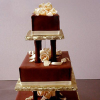Cakes, brown, cake, Square Wedding Cakes, Square, Creative international pastries