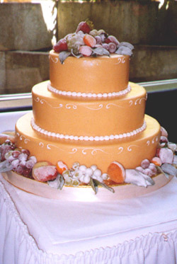 Cakes, orange, cake, Creative international pastries