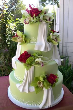 Cakes, green, cake, Fleur de lisa