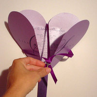 Stationery, purple, Invitations, Program, Mine by design, Fan