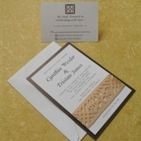 Stationery, brown, Invitations, Oliostyle