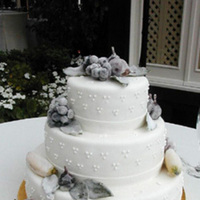 Cakes, white, cake, Winter, Creative international pastries