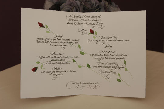 Menu, Blooming quill