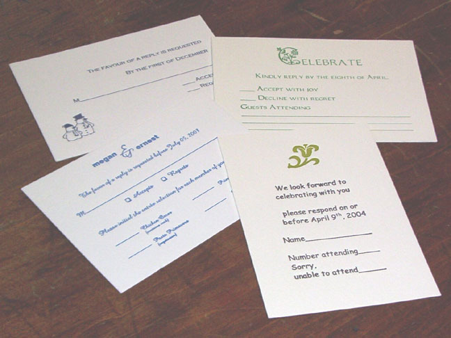 Stationery, Invitations, Superior letterpress