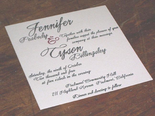 Stationery, Invitations, Superior letterpress