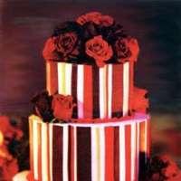 Cakes, red, cake, Fleur de lisa