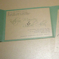 Stationery, blue, green, Invitations, Mine by design