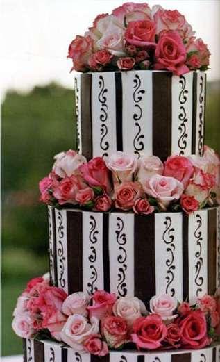 Cakes, pink, brown, cake, Fleur de lisa