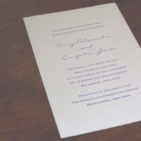 Stationery, purple, Invitations, Superior letterpress