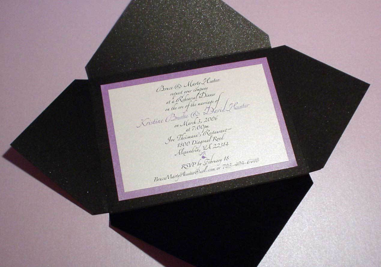 Stationery, purple, black, Invitations, Mine by design