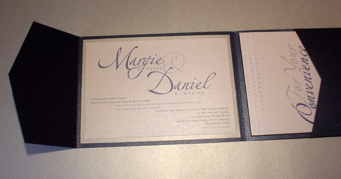 Stationery, blue, black, silver, Invitations, Mine by design