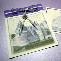 Stationery, purple, Invitations, Mine by design