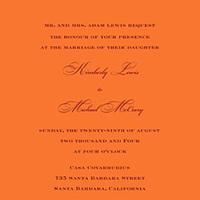 Stationery, orange, Invitations, Sarah drake design