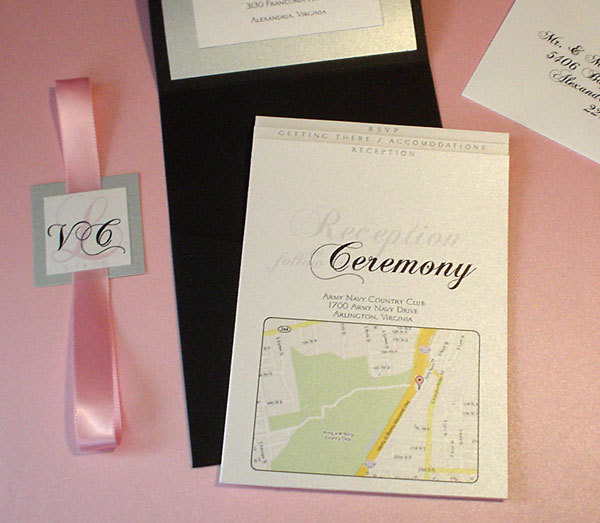 Stationery, pink, black, Invitations, Mine by design