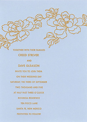Stationery, blue, gold, Invitations, Sarah drake design