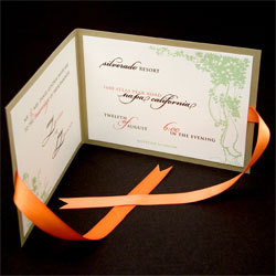 Stationery, orange, green, Garden Wedding Invitations, Vineyard Wedding Invitations, Invitations, Oliostyle