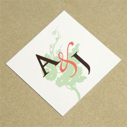 Stationery, orange, green, brown, Invitations, Monagram, Oliostyle