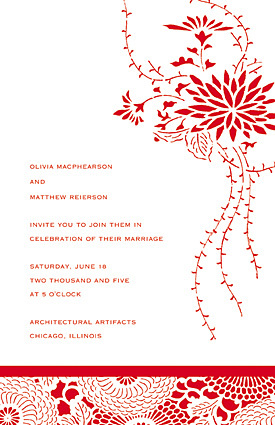 Stationery, red, Invitations, Sarah drake design