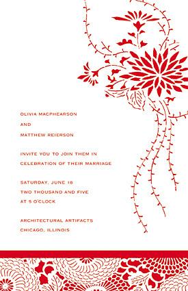 Stationery, red, Invitations, Sarah drake design