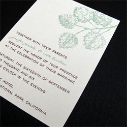 Stationery, green, brown, Invitations, Oliostyle, Leaf