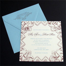 Stationery, purple, blue, Invitations, Oliostyle