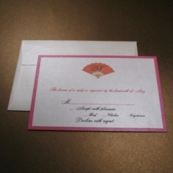 Stationery, orange, pink, Invitations, Fan, Oliostyle