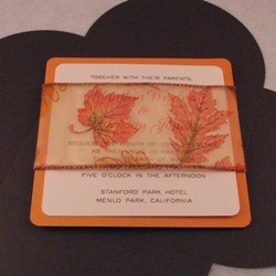 Stationery, orange, Fall, Invitations, Oliostyle, Leaf