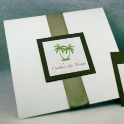Stationery, green, brown, Invitations, Tree, Oliostyle