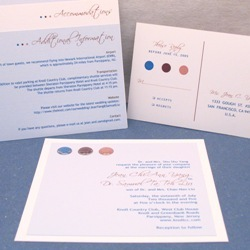 Stationery, blue, brown, Invitations, Oliostyle