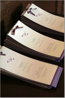 Ceremony, DIY, Flowers & Decor, purple, Programs