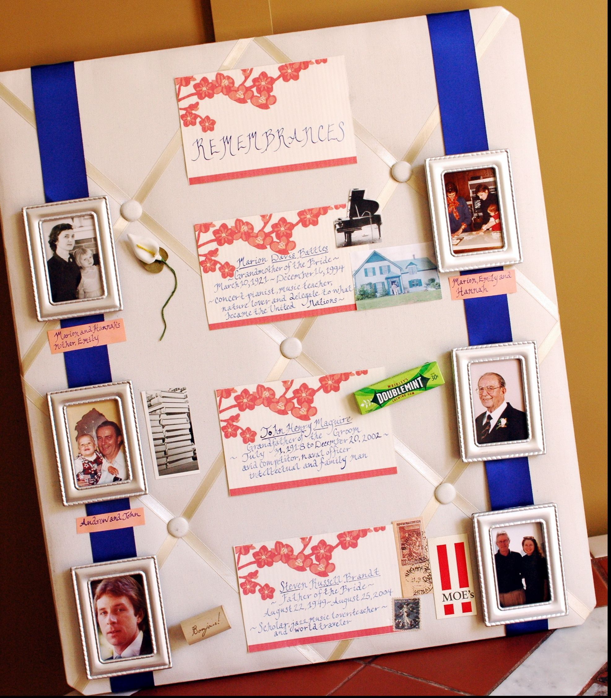 Inspiration, Reception, Flowers & Decor, orange, blue, silver, Board