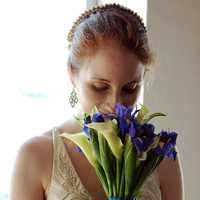Beauty, Flowers & Decor, Jewelry, Veils, Fashion, blue, Flowers, Veil, Hair, Flower Wedding Dresses