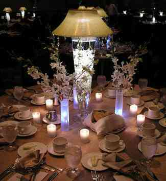 DIY, Reception, Flowers & Decor, Decor, blue, Centerpieces, Centerpiece, Floralyte
