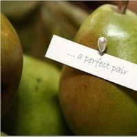 Favors & Gifts, green, Favors, Centerpiece, Fruit, Pear, Closeup, Pair, Perfect