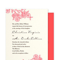 Flowers & Decor, Stationery, pink, red, Invitations, Flowers