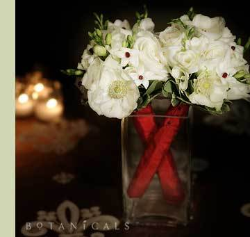 Flowers & Decor, white, red, Flowers