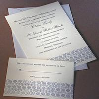 Stationery, blue, Invitations