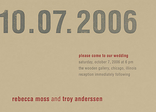 Stationery, red, brown, Modern, Invitations